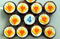 Jaxon's Heatblast Cupcakes (Klaire with a Cake) Tags: birthday cupcakes little ben 10 4 tlc cupcakery heatblast klairescupcakes