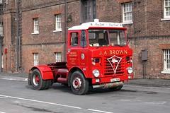 Foden S80 flat front TBA 56R (gylesnikki) Tags: red truck historic chatham artic dockyard wago jabrown fodens80 brownstransport