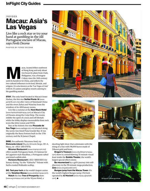 Macau on Inflight's City Guide