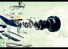 Formula 1 Exploded (Steve.M~) Tags: racecar mercedes sony petronas bridgestone f1 wires a200 formula1 weybridge brooklands exploded mercedesbenzworld konicaminolta2885mm