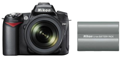 Nikon D90 plus EN-EL3e -- Battery Life