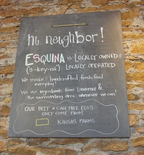 Esquina - Lawrence, KS - Sign 1