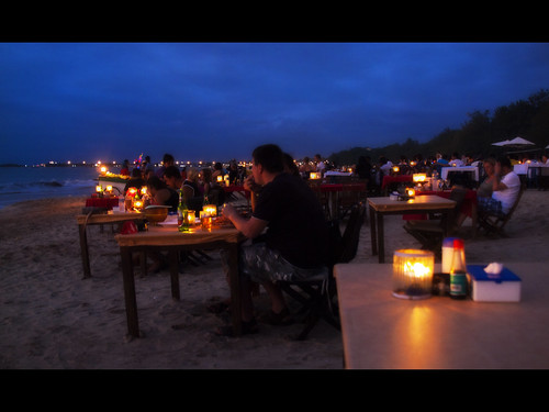 Sunset Dinner at Jimbaran Beach, Bali by kevinpoh, on Flickr