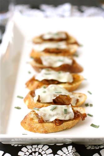 Canapes-with-Balsamic-Caramelized-Onions-Melted-Cheese-&-Sage-Recipe-Cookin'-Canuck