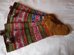Socks - Explored! (tarelkaz) Tags: macro socks knitting folk knit stranded handknitting fairisleknitting folkknitting olympuse450