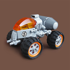 Ikusa F3 - 'Ronin Roller' (Fredoichi) Tags: tank lego space military battle vehicle fredoichi