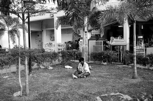 Solo Meditation. Little India, Singapore