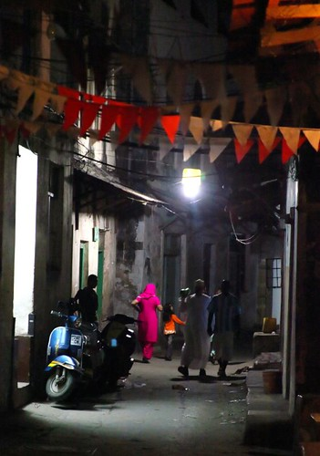 Evening in the streets of Stone Town