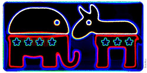 Republican Elephant & Democratic Donkey