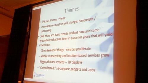 Slide from Lee Raine keynote.