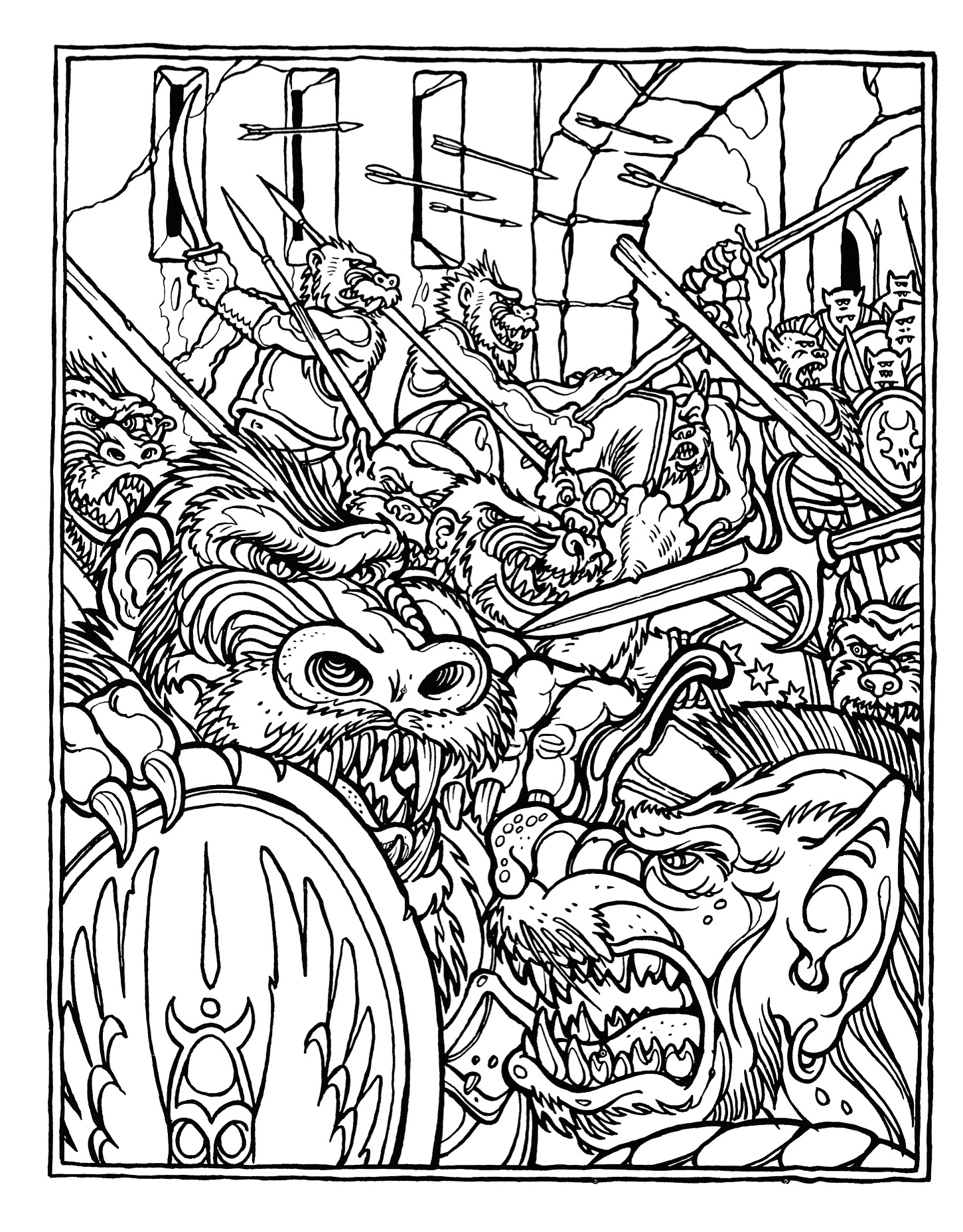 dungeons and dragons coloring pages - photo #8