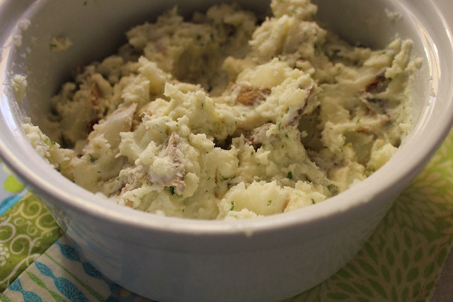 Creamy Chive, Onion and Parsley Potatoes