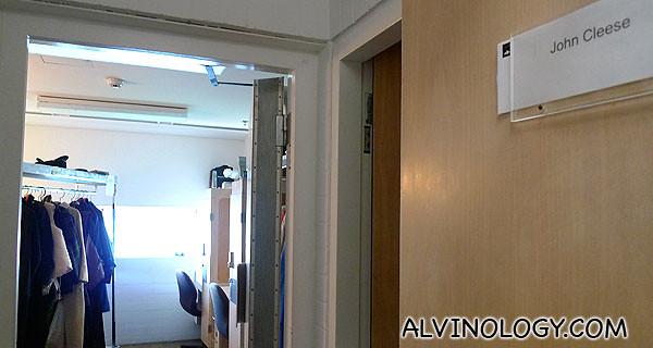 John Cleese's room
