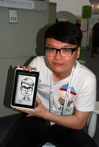 digital caricature live sketching on HTC Flyer for HTC Weekend - Day 2 - 38