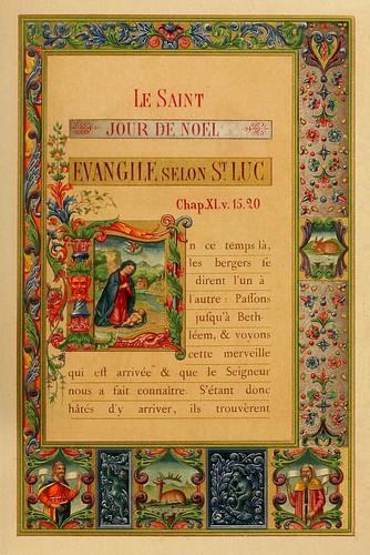 008-El santo dia de Navidad-Evangelio pagina 1-Les évangiles des dimanches et fêtes de l'année –Vol 1- 1864- Leon Curmer