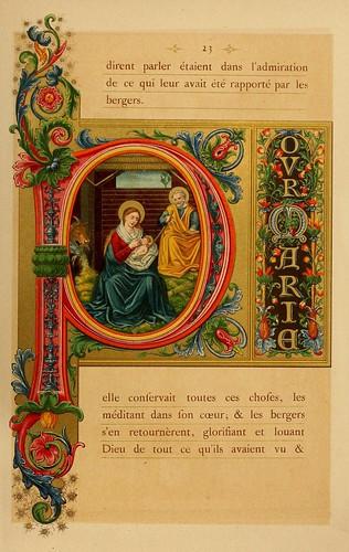 010-El santo dia de Navidad-Evangelio pagina 3-Les évangiles des dimanches et fêtes de l'année –Vol 1- 1864- Leon Curmer