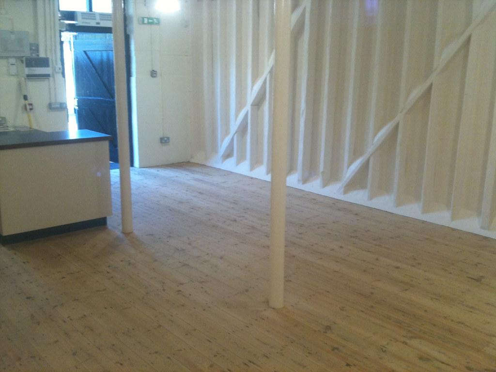 Café floor sanded