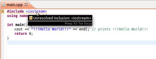 Ubuntu 11.10 eclipse c++ pic01