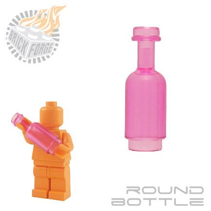 Round Bottle - Trans Pink