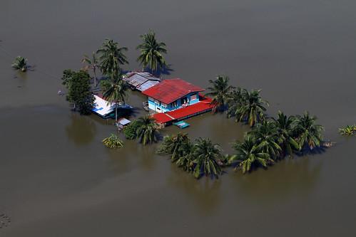 無料写真素材, 社会・環境, 災害, 洪水, 風景  タイ