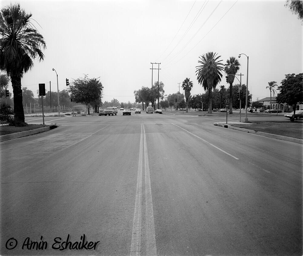 East Grand Avenue at North Main Street, Corona Ca (1973)-01