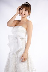 DSC05203 (rickytanghkg) Tags: portrait woman white cute girl female studio model dress sweet chinese young picnik