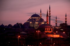 Sunset Behind the Minarets (Bernardo  (http://Ricci-Armani.com)) Tags: turkey nikon mosque turchia yenicamii newmosque haghiasophia turkei d3s turkiye gapsubmitted