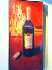 Wine picture (mist-illusionist) Tags: ocean california blue red orange black yellow painting italian paint artist hand image artistic near pastel painted shiraz resturant pure radiant paints clolorful berninis