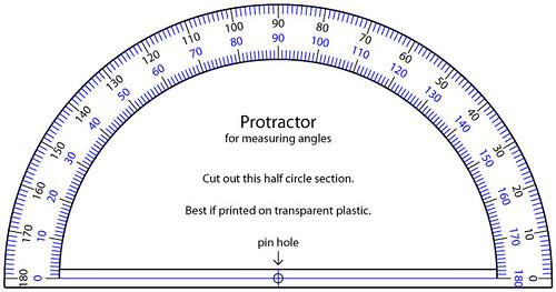 A protractor
