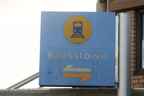 Bankstown Station Illuninated Sign