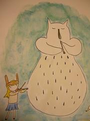 DSCN2323 (JFreckleton) Tags: noah music bunny girl monster ink watercolor painting flute violin indie whale