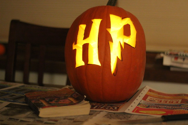Our Harry Potter pumpkin