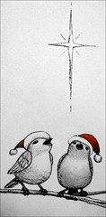 winter song (catnapping) Tags: christmas winter holiday cute bird hat star singing song solstice  baretree caroling   cutsie
