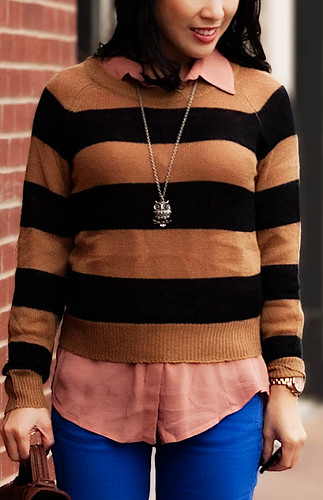 H&M striped knit sweater
