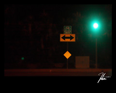 Pointed - Our Daily Challenge 11.4.11 (Hsin Tai Liu) Tags: california road november our light green sign night canon vintage photography eos drive liu flickr 4 11 daily tai mm heights 35 70 hsin ef challenge hacienda pointed autofocus stumbleupon 2011 50d tumblr ourdailychallenge