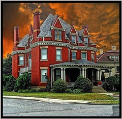 Edwin Ohl  House [1899] ~ New Castle Pennsylvania (Onasill ~ Visiting ~ Will Return Comments Soon.) Tags: county new roof red house brick castle architecture walking portland anne site lawrence iron pennsylvania district steel united cement first style bank places historic queen pa national porch co mansion hip tours edwin attraction apps ohl ipad nrhp onasill