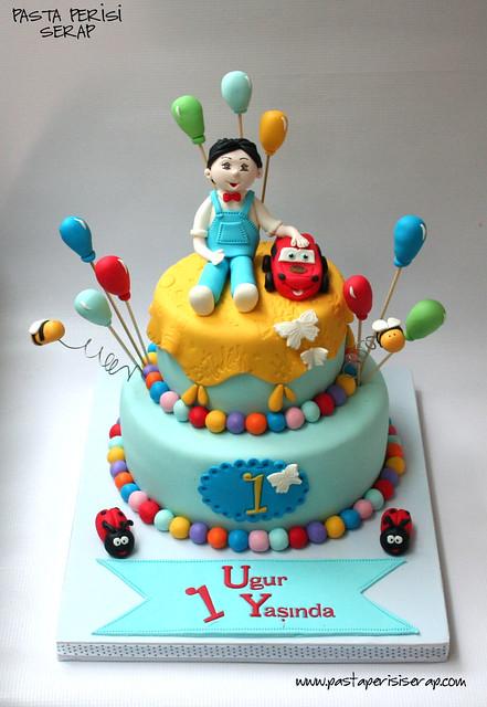 şimşek mc 1 yaş pastası