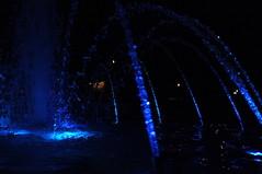 Tamajdan Fountain 4 (bmhammo) Tags: blue red color colour water fountain night dark purple time jets serbia belgrade splash tamajdan tasmajdan
