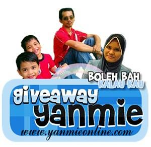 Mahukan backlink blog Yanmie dengan menyertai Giveaway