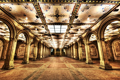 Bethesda Terrace (ajagendorf25) Tags: park orange lake fountain sepia silver high nikon long exposure dynamic terrace tripod central sigma overlay nik bethesda range 1020 hdr highpass the d90 photomatix efex ajagendorf25 alexjagendorf
