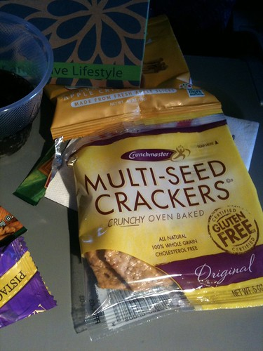 Multi-seed crackers from American Airlines new in flite delights snack box