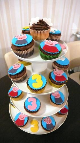 Peppa pig cupcakes Pepa prase