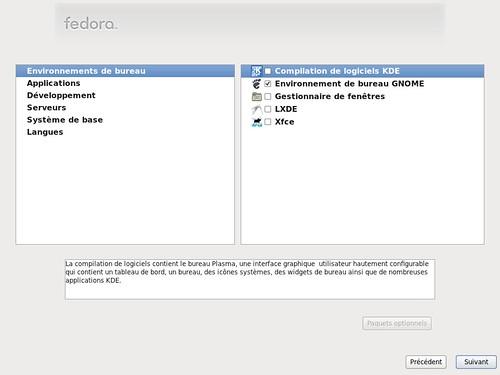 Choix de l'environnement de bureau sous Fedora 15 - partie 2