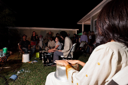 VBB Artistic/Founding Director Sehba Sarwar at drumming circle
