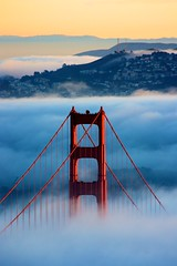 Fog and the Golden Gate (tony.mignot) Tags: sanfrancisco california usa fog architecture canon landscape golden gate day goldengatebridge goldengate