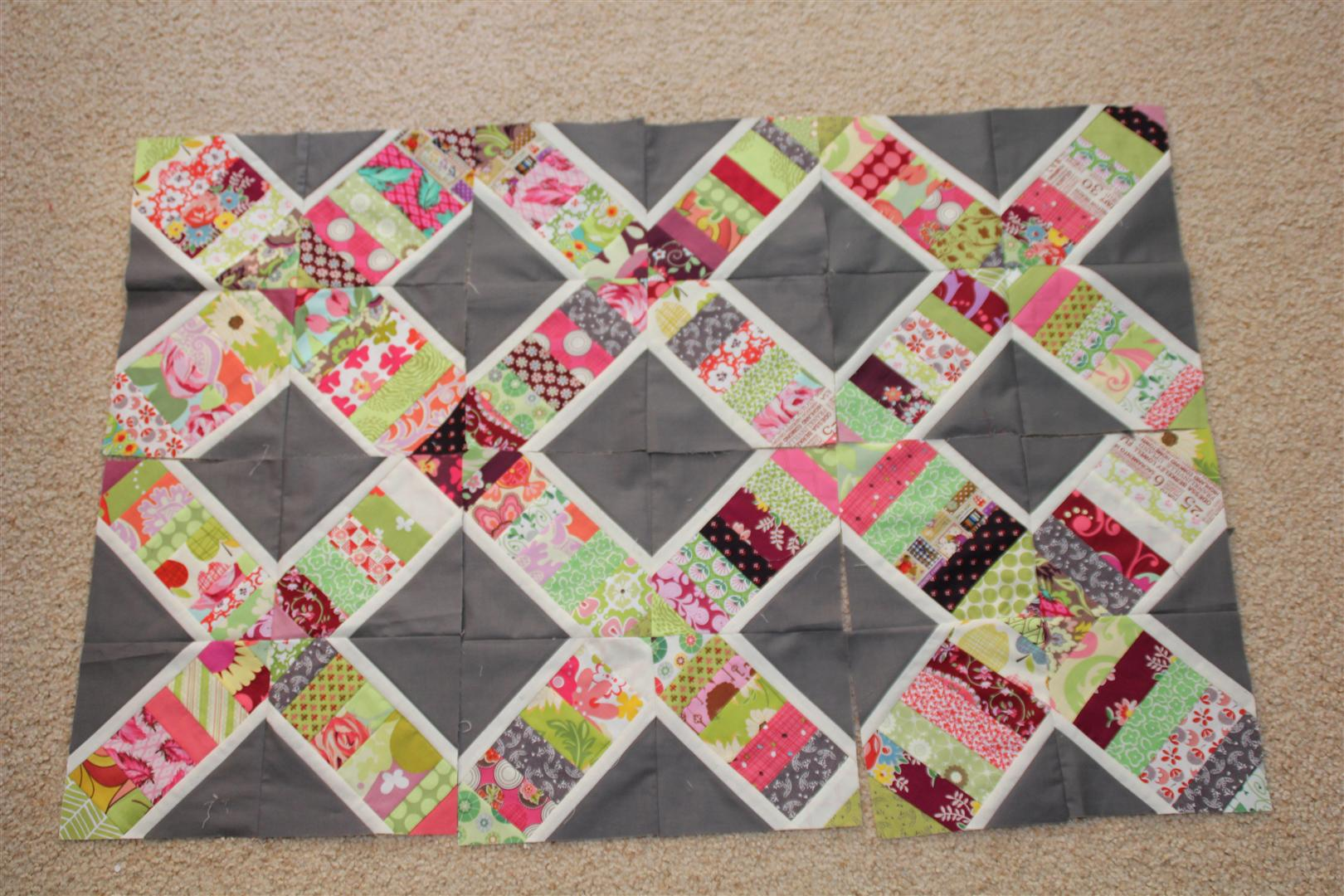 Progress so far on quilt for my lounge