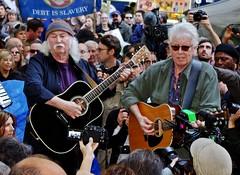 David Crosby Graham Nash Occupy Wall Street 2011 Shankbone