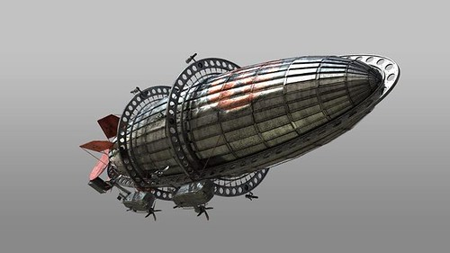 Enemy Zepplin - Side View
