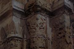 Steetley, Whitwell, Derbyshire, Steetley Chapel, chancel arch, capital (groenling) Tags: uk england stone arch britain derbyshire capital stonecarving carving chancel whitwell churchofallsaints steetley steetleychapel