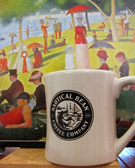 Rainy Saturday - coffee and puzzle (smacss) Tags: blue red white black green coffee yellow bean puzzle company mug nautical seurat